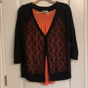 Lace front sweater 14 16w